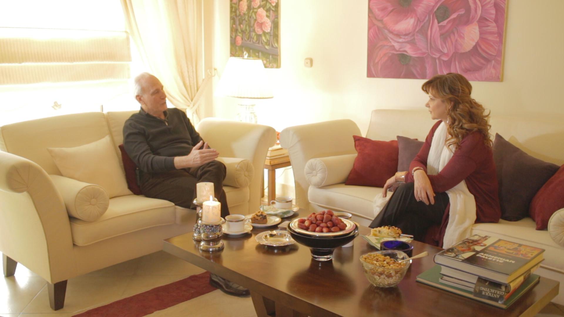 Με τον Έλληνα επιχειρηματία Ρ. Μόσιαλη