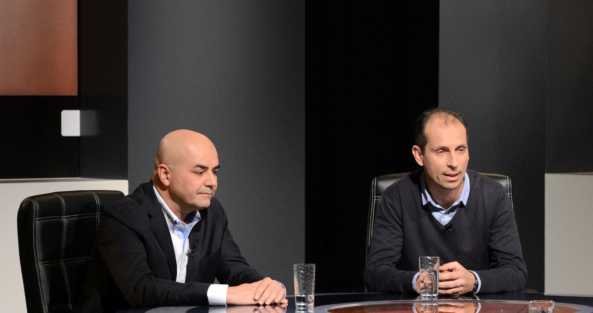 Από αριστερά Βασίλης Βλαχογιάννης, Νίκος Πολιάς