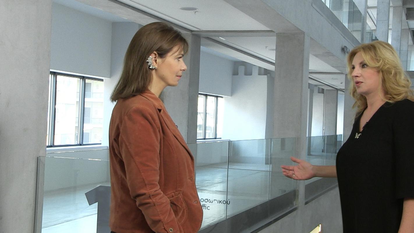 Από αριστερά: Κατερίνα Κοσκινά, Κατερίνα Ζαχαροπούλου