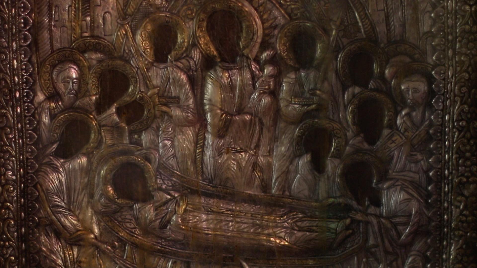 Λεπτομέρεια από το Άγιο Μύρο, Παναγία Μαλεβή