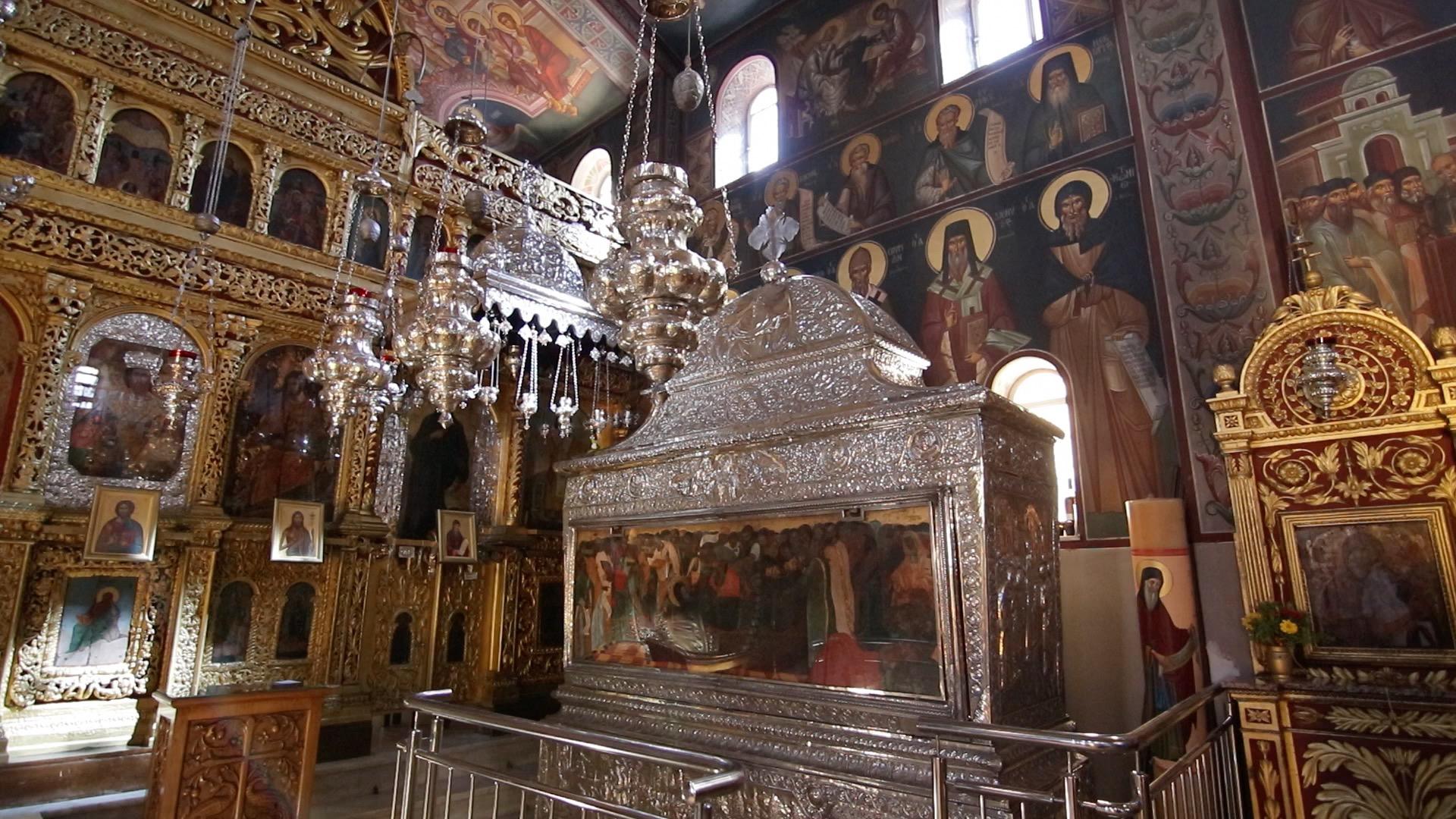 Το σκήνωμα του Αγίου στην Ιερά Μονή Αγίου Γερασίμου Κεφαλονιάς