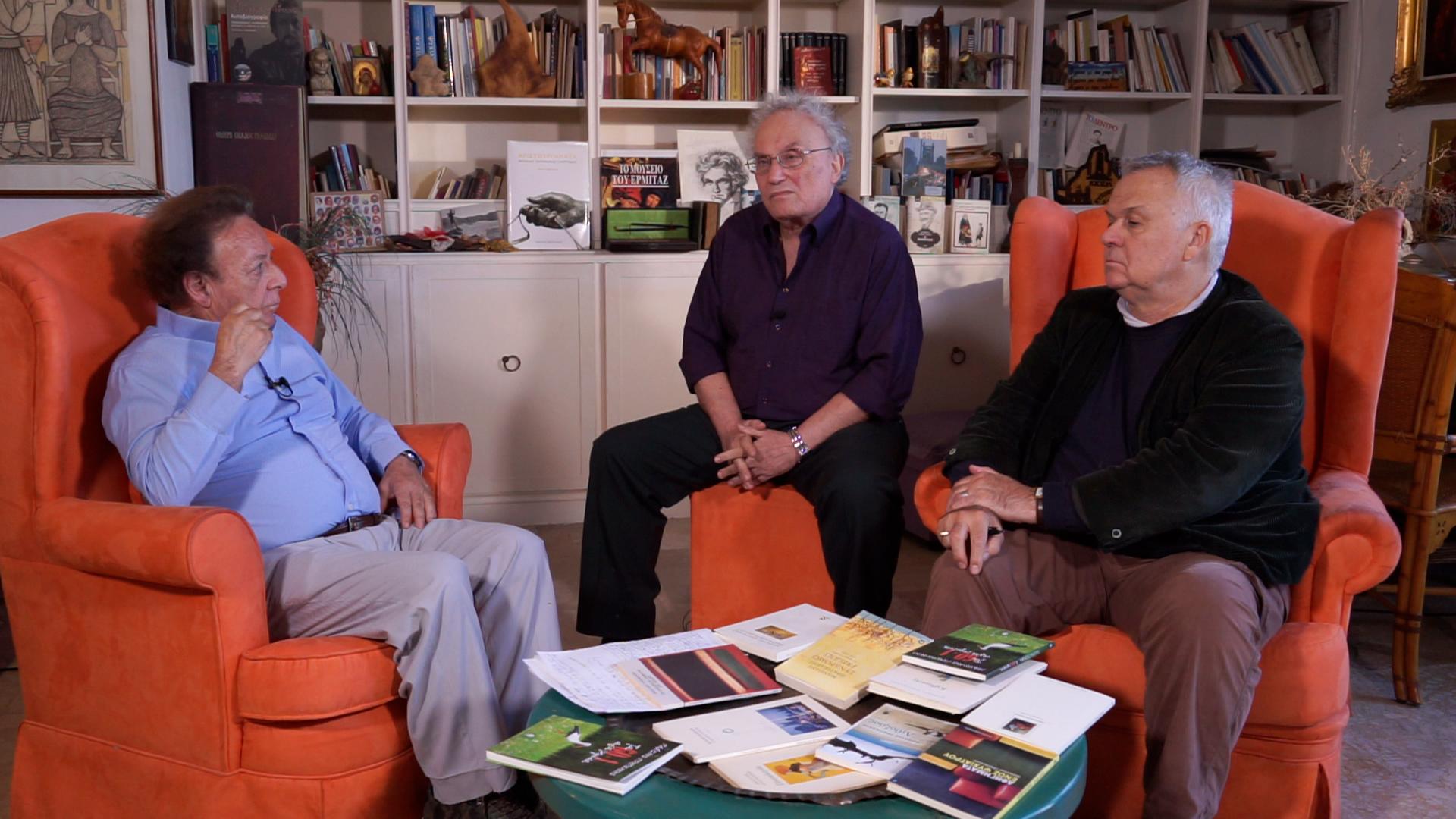 Από αριστερά: Μανόλης Πρατικάκης, Αλέξης Ζήρας, Γιώργος Χρονάς