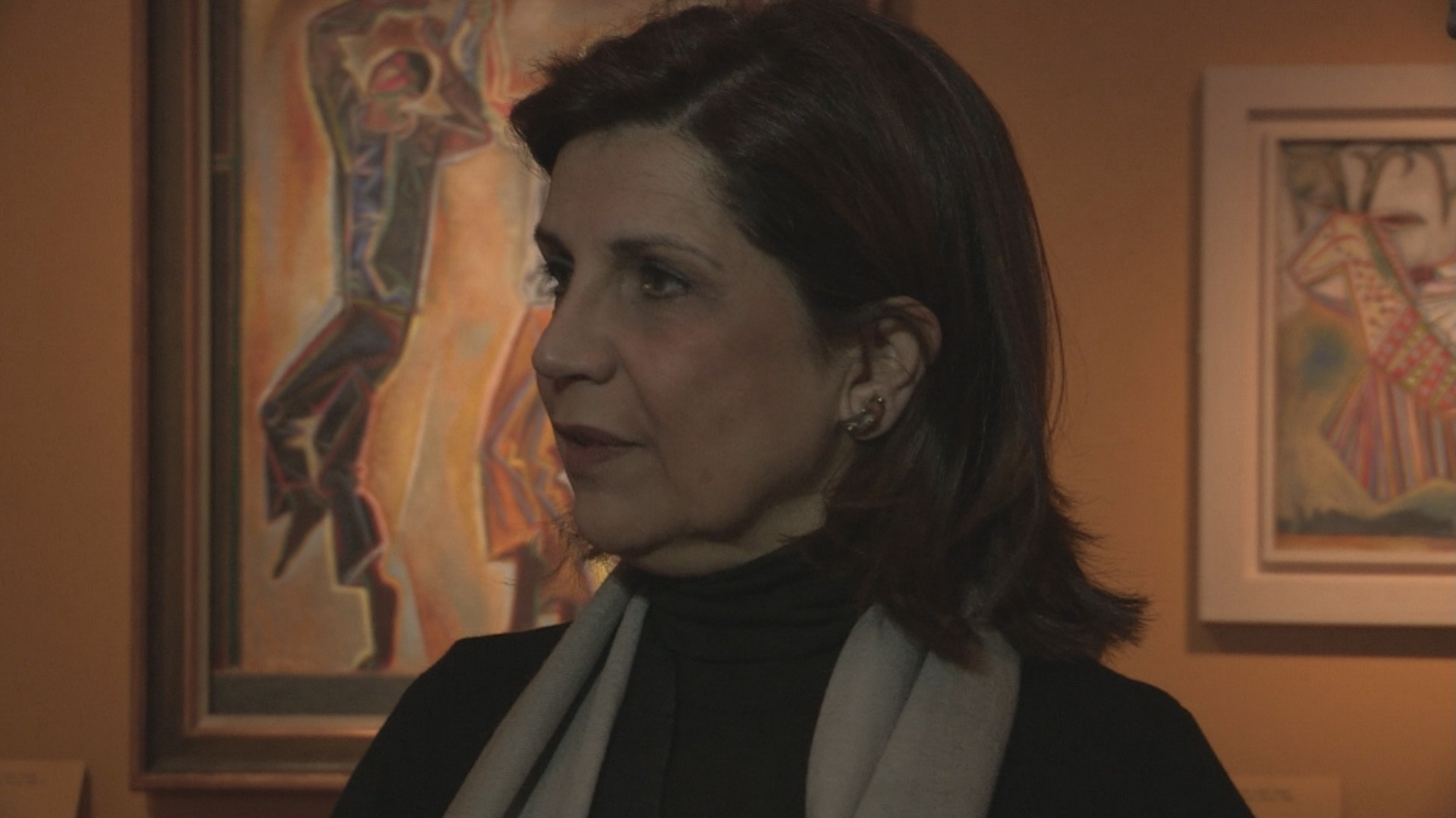Εβίτα Αράπογλου, επιμελήτρια της έκθεσης «Γκίκας - Craxton - Leigh Fermor: Η γοητεία της ζωής στην Ελλάδα»