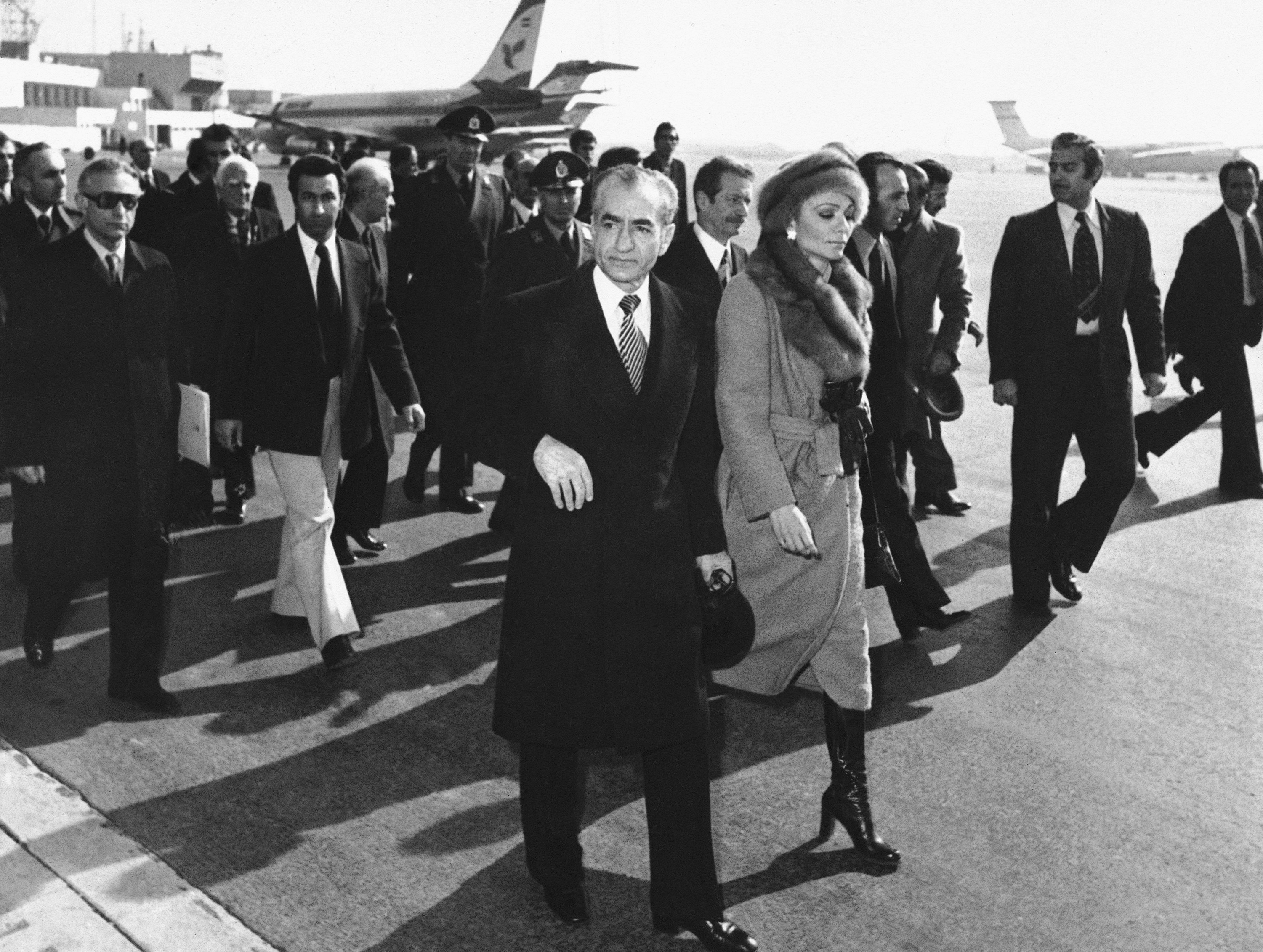 Shah And Wife Leave Iran 1979