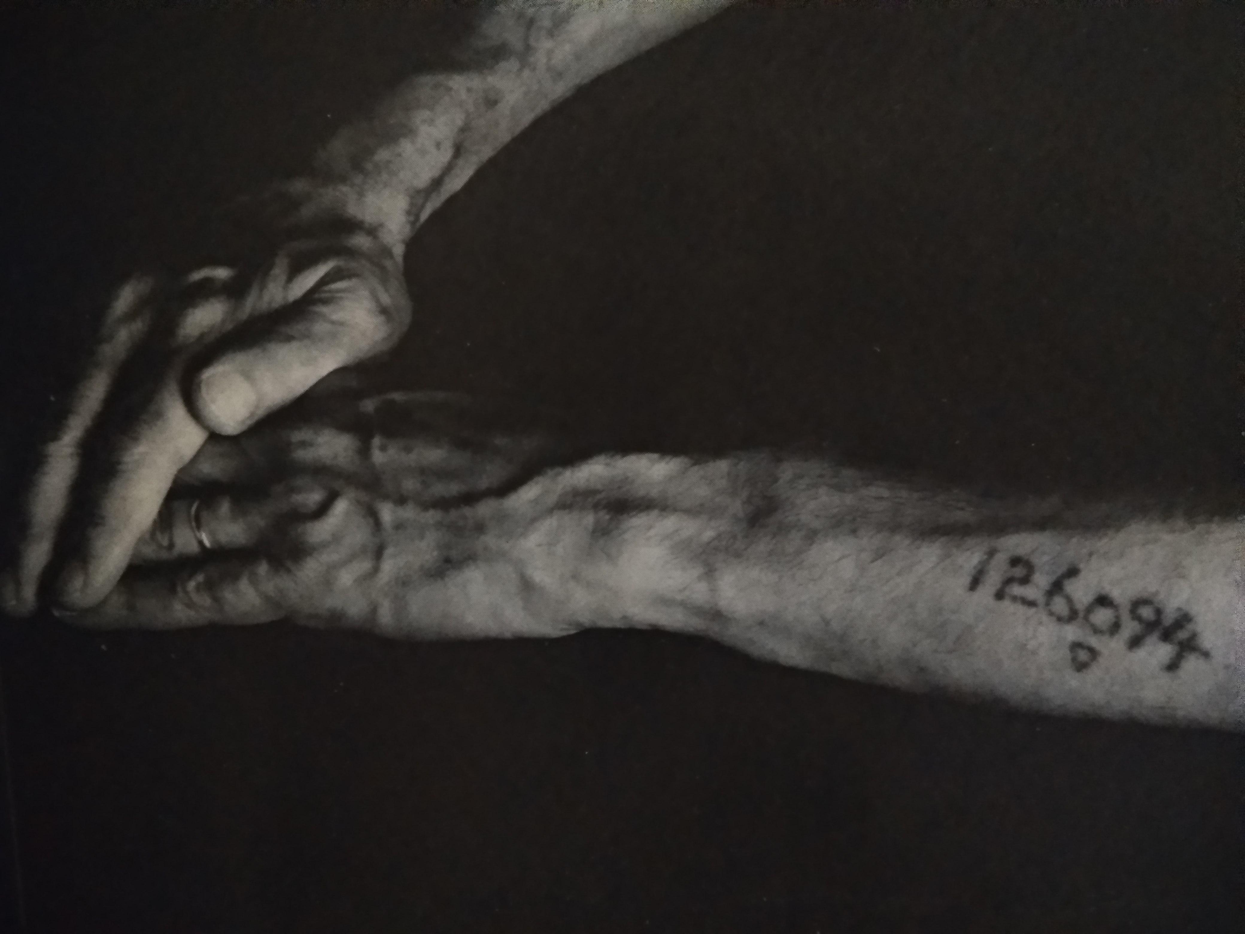 Gilles Cohen, από τη σειρά Τατουάζ αριθμών από το στρατόπεδο Άουσβιτς-Μπιρκενάου, αρχές δεκαετίας 1990.