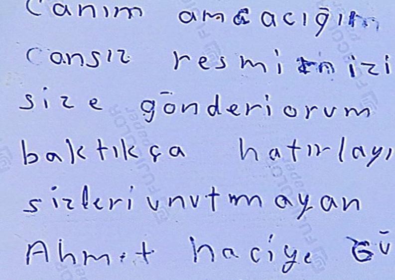 Γράμμα της οικογένειας του αδελφού του Γιάννη Αναστασιάδη από τη Σμύρνη